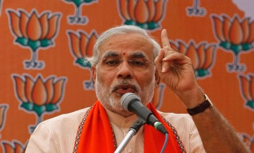 Narendra Modi, leading opposition candidate for the prime minister of India