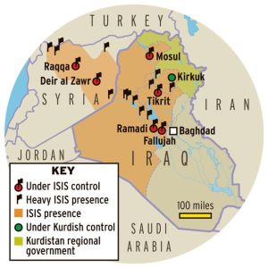 Extent of ISIS influence and control